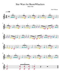 Star Wars for BoomWhackers Preschool Music, Music Activities, Teaching Music, Piano Lessons, Music Lessons, Music Education, Health Education, Physical Education, Star Wars Music