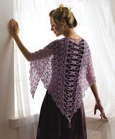 I love the Dragonfly Shawl by Kristin Omdahl(from the book Crochet So Fine)
