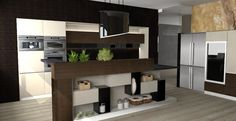 New design kitchen with YaCUBE components