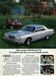 Share Tweet + 1 Mail The roomy 1978 Ford LTD It could be just the car your family needs. Anyone who needs the roominess ...