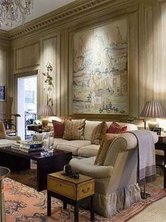 Atlanta designer Phoebe Howard encapsulates her interior design polish in a new coffee table book out next month. Living Room Inspiration, Interior Design Inspiration, Living Room Decor, Living Spaces, Living Rooms, Architecture Design, Style Anglais, Elegant Living Room, French Country House