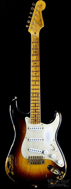 Fender Custom Shop 1954 Heavy Relic 60th Anniversary Stratocaster Two Tone Sunburst - Wild West Guitars