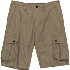 Stoic Rising Sun Cargo Short ($20) ❤ liked on Polyvore featuring men's fashion, men's clothing, men's shorts, mens clothing, mens knee length shorts, men's apparel, mens shorts and mens cargo shorts