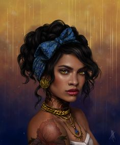 My Dragon Age fanfics are posted there! Find me as Katalyna_Rose ~ Go forth and read! Black Girl Art, Black Women Art, Black Art, Art Girl, Fantasy Character Design, Character Design Inspiration, Character Art, Fantasy Portraits, Character Portraits