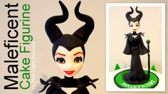 Super excited to be sharing how to make my Maleficent cake figurine. A cake figurine modelling tutorial by Pink Cake Princess. Check out my collaboration wit...