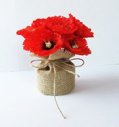 Image result for floral arrangements red poppies