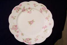 Haviland Limoges Luncheon Plate Pink Roses Schl 39c H Co Blank 5   eBay