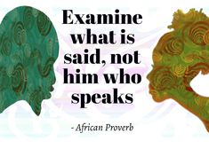Relationship communication African Proverb
