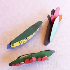 """My new work called """"Garden"""" Oxidizedsilver with enamel paint. Abstract image of colorful and delicatebotanical forms    brooch and ne..."""