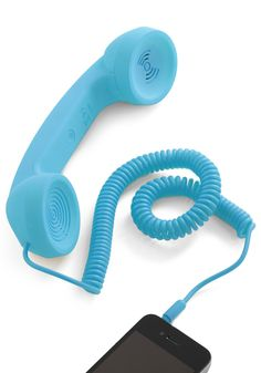I would actually call more people if I had this.     Call to Charm Cell Phone Handset in Blue - Blue, Solid, Quirky, Top Rated