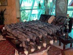 silver fox bed cover