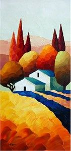 "Sveta Esser Hand Signed and Numbered Limited Edition Giclee on Canvas: ""Hillside Jewel"""