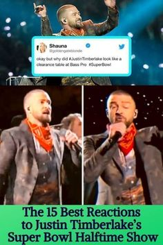 The 15 Best Reactions to Justin Timberlake's Super Bowl Halftime Show Justin Timberlake Superbowl, Joey Fatone, Halftime Show, Destiny's Child, Janet Jackson, Interesting News, Dance Moves, Hilarious, Funny