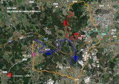 Rali BVF 2016 - Vila Nova de Famalicão  -- Mapa do circuito
