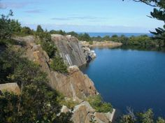 Rockport, MA: view from the granite quarry