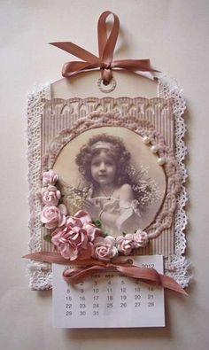 Other: Calendar 2012 vintage Creative Calendar, Calendar Design, Arte Country, Frame Crafts, Mothers Day Crafts, Vintage Tags, Scrapbook Pages, Vintage Scrapbook, Tag Art