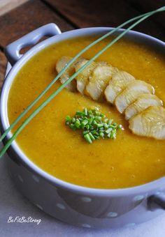 Just Be Fit Be Strong!: Prozdrowotna zupa krem z ogórków kiszonych Thai Red Curry, Strong, Ethnic Recipes, Fitness, Food, Diet, Essen, Meals, Yemek
