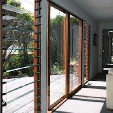stacker door with louvre window - Google Search