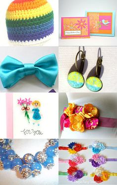 Colorful POLKA DOT team highlights by Sarah on Etsy--Pinned with TreasuryPin.com
