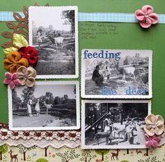 Heritage scrapbook page. Old photos. Christy Strickler | GetItScrapped.com/blog
