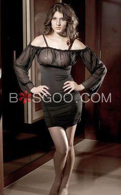 33a8ccf54ad Long Sleeve Back Bandage Adjustable Spaghetti Strap Dress