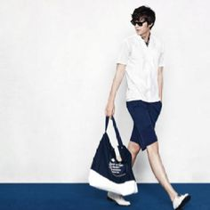 Lee Minho in summer outfit.  Looks cool. Pin from his personal fb acct.