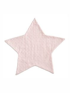 Elegant Baby Baby's Faux Fur-Lined Cable-Knit Star Blanket - Light Pin