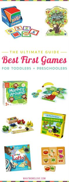 Best Board Games for Toddlers and Preschoolers | Fun educational and active games perfect for 2 and 3 year olds | These make awesome birthday and holiday gifts!
