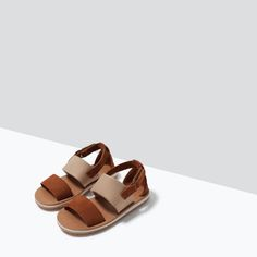 ZARA - NEW THIS WEEK - LEATHER STRAPPY SANDALS