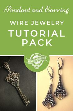Advanced-level wire jewelry tutorial pack, by Kristine Schroeder. #wirekeytutorial #wireearringtutorial