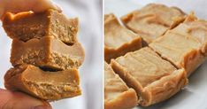Fudge with peanutbutter Raw Food Recipes, Sweet Recipes, Snack Recipes, Dessert Recipes, Vegan Sweets, Healthy Sweets, Healthy Baking, Raw Desserts, Delicious Desserts