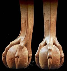 Carving Ball and Claw Foot - Furniture Leg Construction | WoodArchivist.com