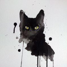Black cat art <3