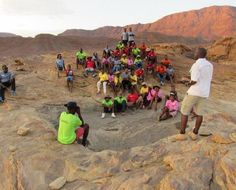Children in the Wilderness Namibia's final camp for 2016 was a special one, with visits to the Twyfelfontein rock engravings, Burnt Mountain and the Damara Living Museum. Youth from YES were involved in the running of this unique camp.