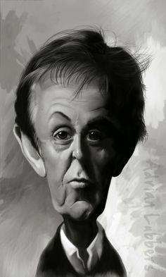Caricatura de Paul McCartney  ~ Ʀεƥɪииεð вƴ╭•⊰✿ © Ʀσxʌиʌ Ƭʌиʌ ✿⊱•╮