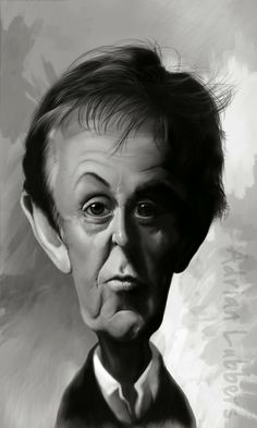 Caricatura de Paul McCartney