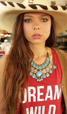 paintrock canyon necklace-turquoise - Junk GYpSy co.