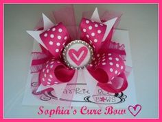 We are so excited that Larkie Lu Bows has chosen Sophia's Cure Foundation as the SMA Charity they will be donating to!  Larkie Lu Bows has teamed up with the Sophia's Cure Foundation and created a bow especially for us.  They will be donating 50% of all sales from the Sophia's Cure bow to the foundation for research into finding a treatment or cure for Spinal Muscular Atrophy