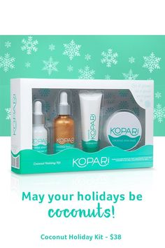 Save 20% with code FULLONCOCONUTS--limited time only! Give the Gift of Kopari.