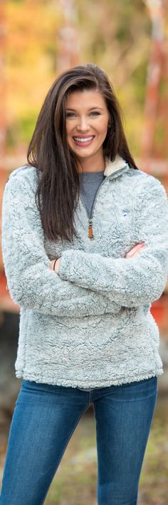 Quarry Heather Sherpa Pullover