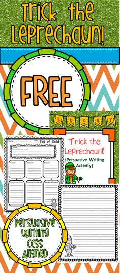 FREE St. Patrick's Day writing activity. 3-6 grades.