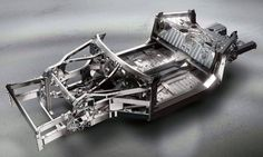 the chassis of the Ferrari F12 berlinetta recalls a robot structure
