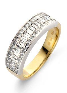 Pavé gouden ring