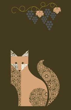 The Fox and The Grapes by Charley Harper