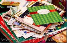 Reuse all your Christmas Cards