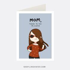 Greeting Cards - Shop.lingvistov.com Funny #funny, #illustrations, #doodles, #joke, #humor, #cartoon, #cute, #comics, #print, #cat, #gifts