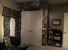 Cool Man Cave Room Design You Will Love. At this time we will discuss about tips on designing rooms for guys. Basically designing a boy's room is about how to use space . Camouflage Bedroom, Camo Rooms, Army Bedroom, Kids Bedroom, Bedroom Decor, Bedroom Ideas, Kids Rooms, Man Cave Room, Boys Room Design