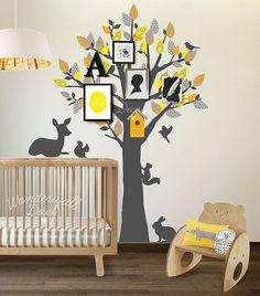 Baum Wall Decal, Rehe, Vögel, Baby Wand Aufkleber Tier Wand Aufkleber Muster Wand Aufkleber, Wand-Grafik