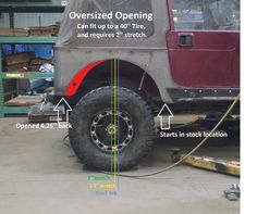 Image result for YJ with trimmed fenders for 37 inch tires
