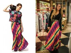 Colorida explosión en Jazmin Chebar por Maud Gurunlian #JockeyPlaza #Fashion #Looks #Colors #Stripes